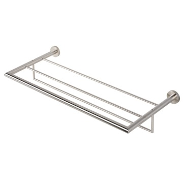 Train Rack Stainless Steel Towel Rack or Towel Shelf with Towel Bar 6552-05 Geesa 6552-05