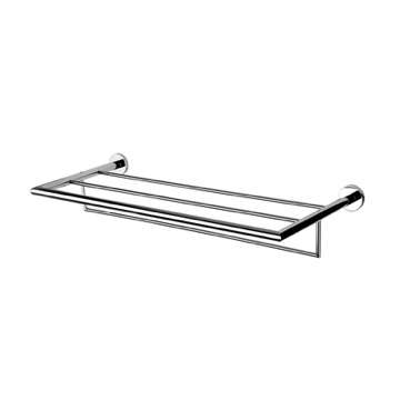 Train Rack Chrome Towel Rack or Towel Shelf with Towel Bar 6552-02 Geesa 6552-02