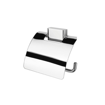 Toilet Paper Holder, Contemporary, Chrome, Brass, Geesa BloQ Collection, Geesa 7008