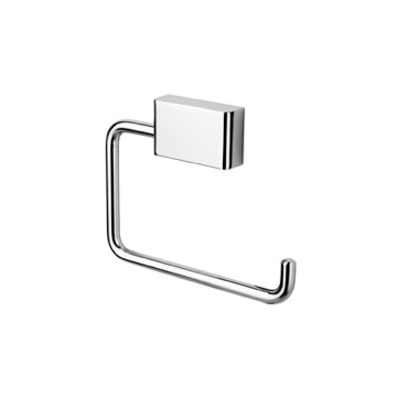 Toilet Paper Holder, Contemporary, Chrome, Brass, Geesa BloQ Collection, Geesa 7009
