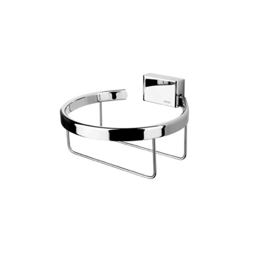 Toilet Paper Holder, Contemporary, Chrome, Brass, Geesa BloQ Collection, Geesa 7012