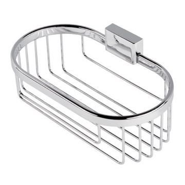 Shower Basket Chrome Wire Bottle or Sponge Holder/Basket 7014 Geesa 7014