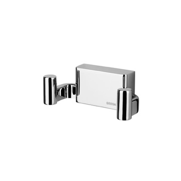 Chrome Robe or Towel Double Hook