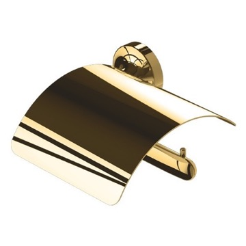 Toilet Paper Holder, Contemporary, Gold, Brass, Geesa Tone Gold, Geesa 7308-04-R