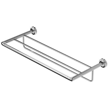 Wall Mounted Chrome Brass Train Rack