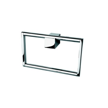 Square Chrome Hand Towel Ring