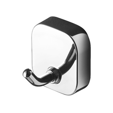 Round Wall Mounted Chrome Bathroom Hook