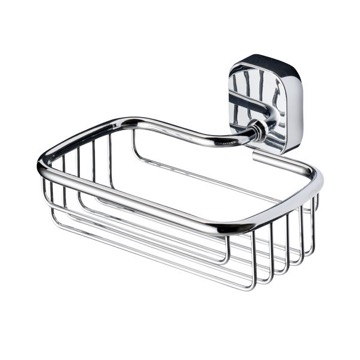 Rectangle Wall Mounted Chrome Shower Basket 2414-02