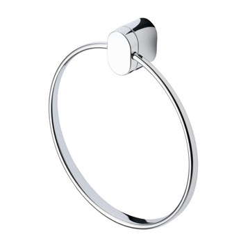 Round Wall Mounted Chrome Towel Ring 4504-02