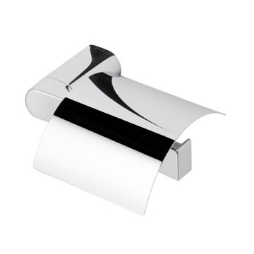 Round Wall Mounted Chrome Toilet Paper Holder