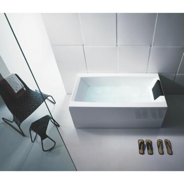 Perfect White Rectangular Bathub With 3 Panels
