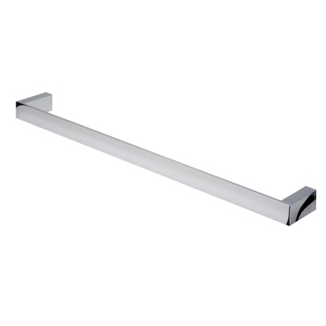 24 Inch Contemporary Chrome Towel Bar