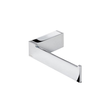Lounge square polished chrome toilet roll holder with cover 5425 13