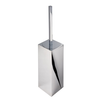 Square Chrome Toilet Brush Holder