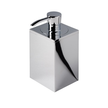 Square Chrome Soap Dispenser
