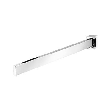 16 Inch Chrome Square Swivel Towel Bar
