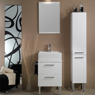 Bathroom Vanity Contemporary Square Vanity Set A12 Iotti A12