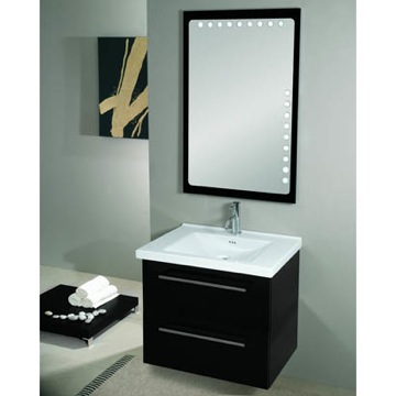 Bathroom Vanity Modern Vanity Set with Backlight Mirror and Ceramic Sink FL8 Iotti FL8