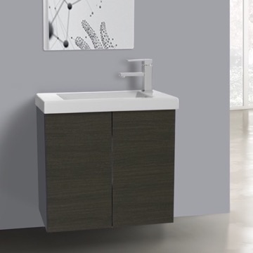 2 Doors Vanity Cabinet with Self Rimming Sink