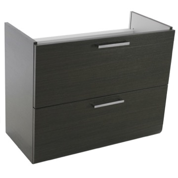 30 Inch Wall Mount Grey Oak Vanity Cabinet