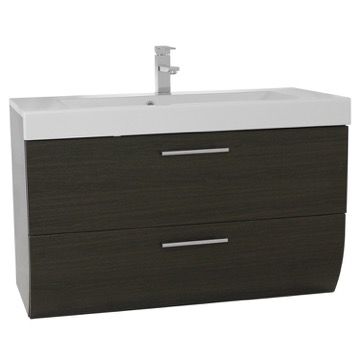 38 Inch Wall Mount Bathroom Vanity Cabinet with Sink