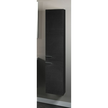 Tall Hanging Storage Unit With 2 Doors In Gray Oak Finish