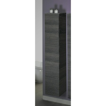 Grey Oak Tall Storage Cabinet