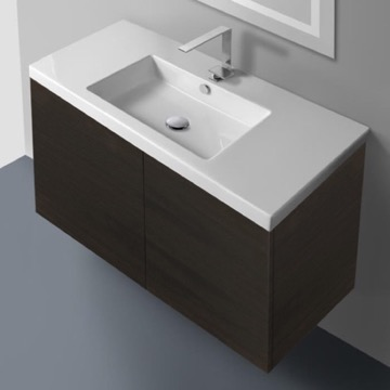 39 Inch Vanity Cabinet with Self Rimming Sink