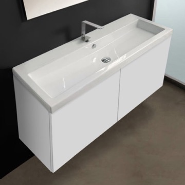 47 Inch Vanity Cabinet with Self Rimming Sink