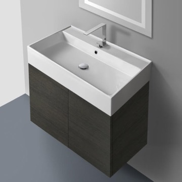 31 Inch Vanity Cabinet with Self Rimming Sink