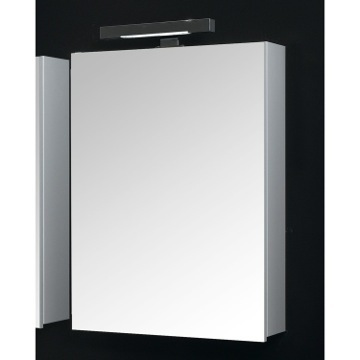 Glossy White Rectangular Medicine Cabinet with Mirror