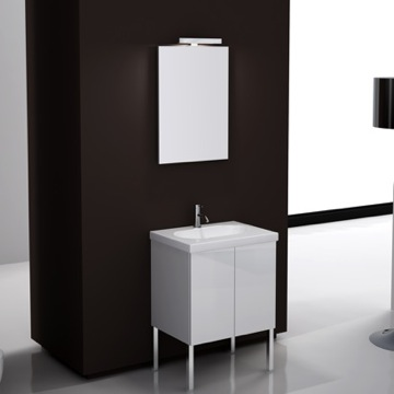 Bathroom Vanity Unique Vanity Set with Mirror, Vanity, and Sink TR01 Iotti TR01