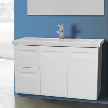 2 Doors, 2 Drawer Vanity Cabinet with Self Rimming Sink