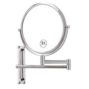 Round Wall Mounted Double Face 3x Shaving Mirror