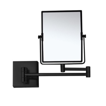 Matte Black Double Face 7x Wall Mounted Magnifying Mirror