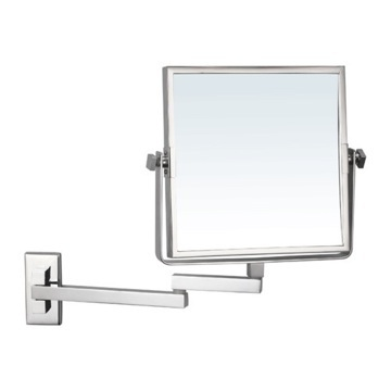 Square Wall Mounted Double Face 3x Shaving Mirror