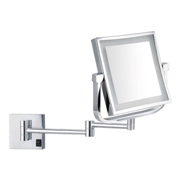 Double Face Square LED Magnifying Mirror, Hardwired