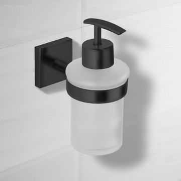 Matte Black Wall Mounted Soap Dispenser