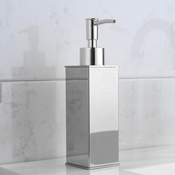 Square Modern Chrome Soap Dispenser