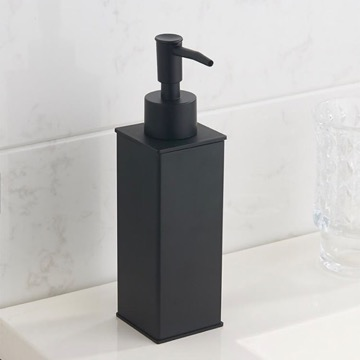 Square Modern Matte Black Soap Dispenser