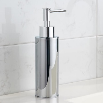 Round Modern Chrome Soap Dispenser