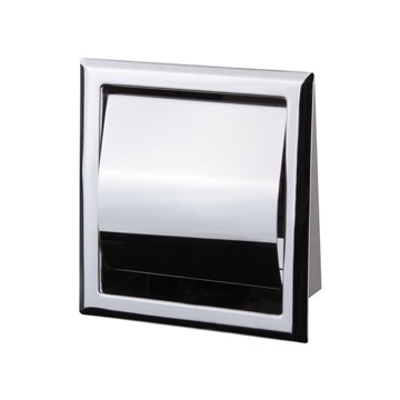 Chrome Recessed Toilet Paper Holder With Cover