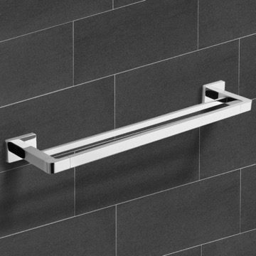 25 Inch Polished Chrome Double Towel Bar
