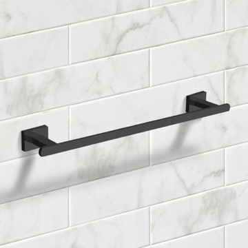 18 Inch Matte Black Towel Bar