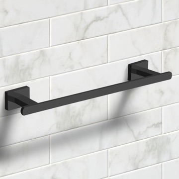 12 Inch Matte Black Towel Bar
