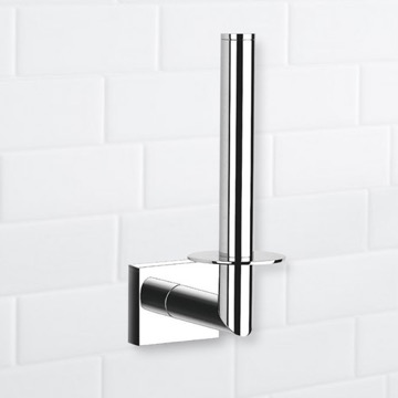 Rectangle Chrome Vertical Toilet Paper Holder