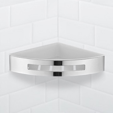 Wall Mounted Chrome Corner Shower Basket