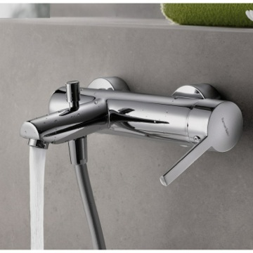 Tub Filler Wall Mounted Tub Mixer with Single Lever and Automatic Diverter US-3305S Ramon Soler US-3305S