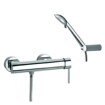 Tub Filler Wall Mount Shower Mixer with Hand Shower Set and Single Lever US-3308R3 Ramon Soler US-3308R3