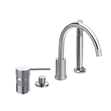 Tub Filler Four Hole Deck Mounted Tub Faucet with Hand Shower and Automatic Diverter US-3333D Ramon Soler US-3333D